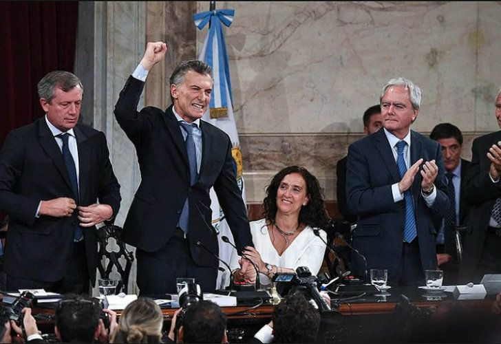 President Mauricio Macri delivers a speech to Congress on Thursday.