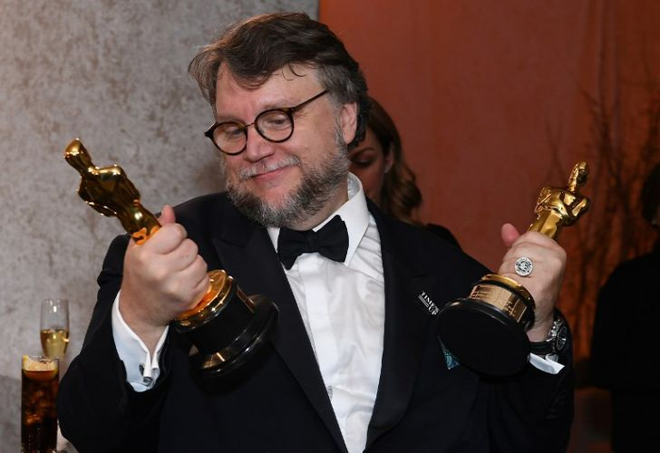 Best Director and Best Film laureate Mexican director Guillermo del Toro stands at the engraving station as he attends the 90th Annual Academy Awards Governors Ball at the Hollywood & Highland Center on March 4, 2018, in Hollywood, California.