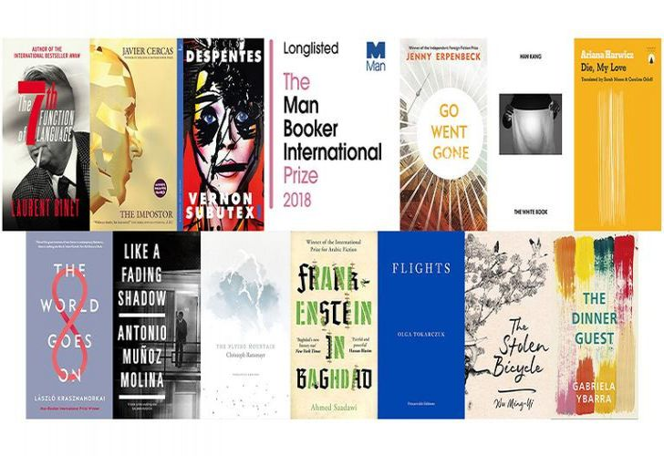 The thirteen works selected for the 2018 Man Booker International Prize's long list.