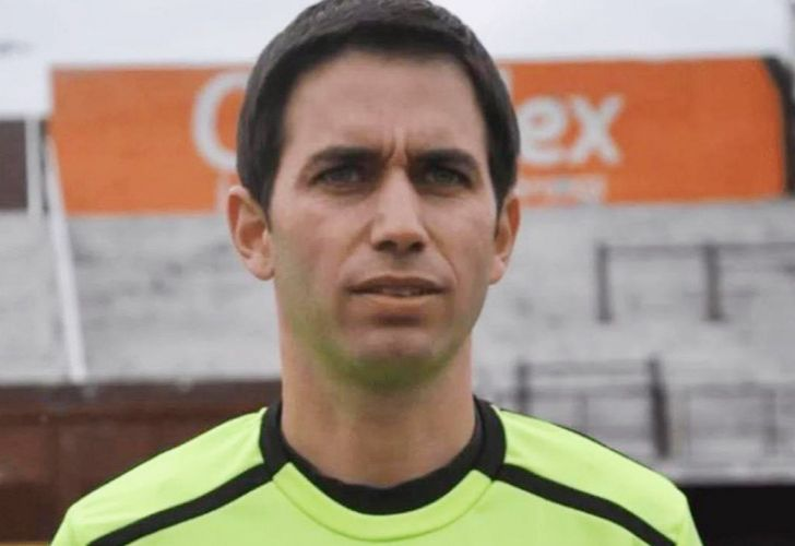 Football umpire Martin Bustos, accused of participating in a child prostitution ring involving youth players at Independiente football club.