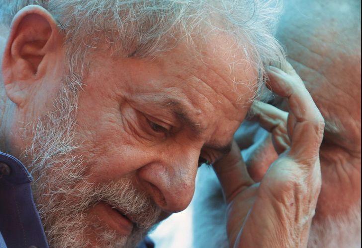 Brazil's former president Luiz Inácio Lula da Silva attends a rally in Francisco Beltrão, Paraná state, on Monday.