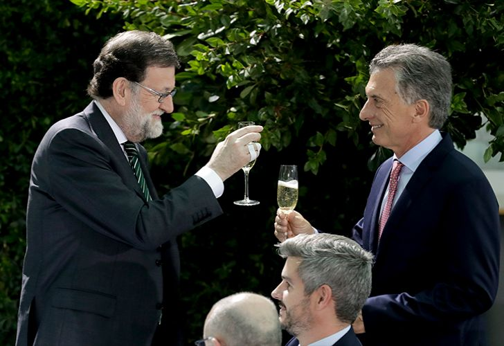 Spanish Prime Minister Mariano Rajoy and Argentine President Mauricio Macri.