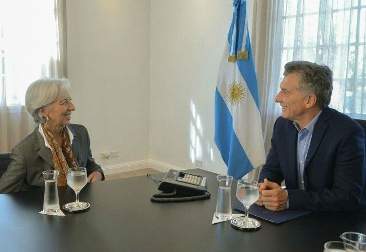 IMF chief Christine Lagarde with President Mauricio Macri.