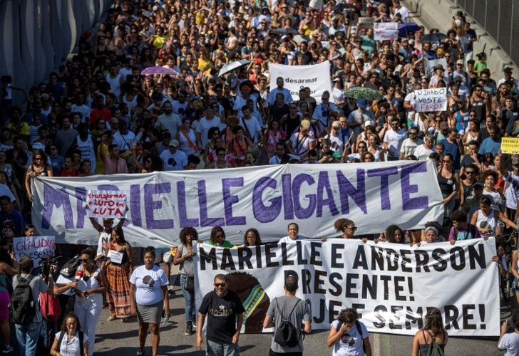 The slaying in March of Marielle Franco, a Rio activist who blamed paramilitary militias for part of the violence afflicting poor neighbourhoods, brought thousands of protesters to the streets in support of her message.