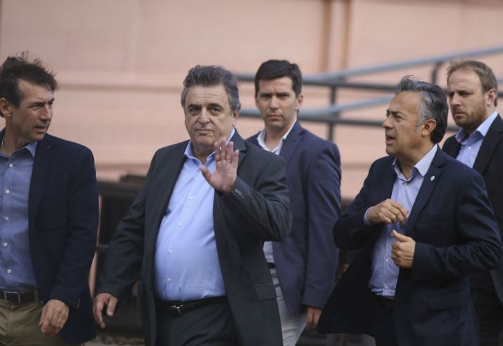 The UCR Radical Party leader in the Lower House, Mario Negri, arrives to the Pink House on Monday May 7, 2018 for a meeting with President Macri.