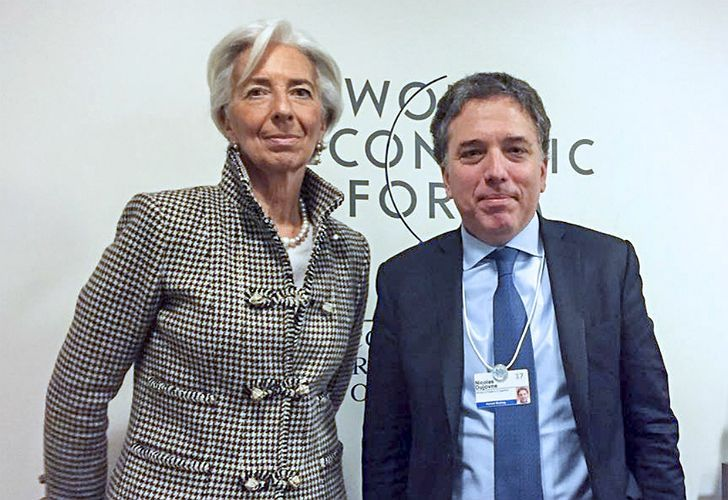 IMF chief Christine Lagarde with Argentine Treasurer Nicolas Dujovne.
