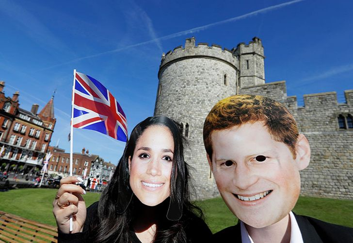 Preparations are being made in the town ahead of the wedding of Britain's Prince Harry and Meghan Markle that will take place in Windsor on Saturday May 19.