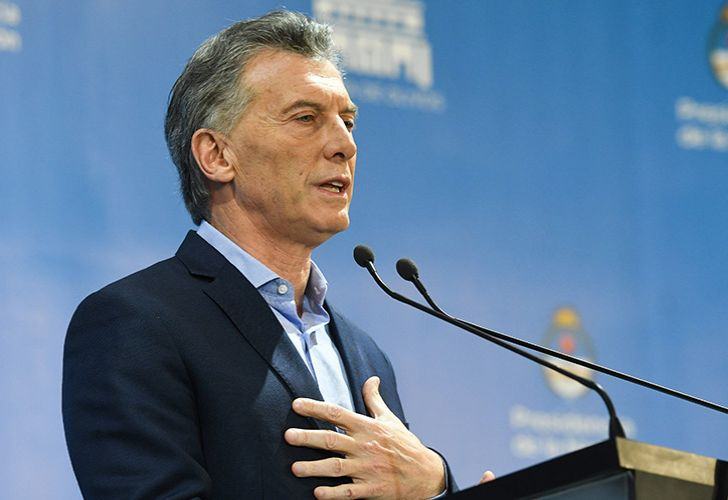 President Maurcio Macri addresses Argentina's economic woes during a May 16, 2018 press conference.