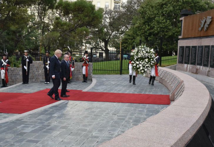 Boris Johnson, the first British foreign secretary to visit Argentina