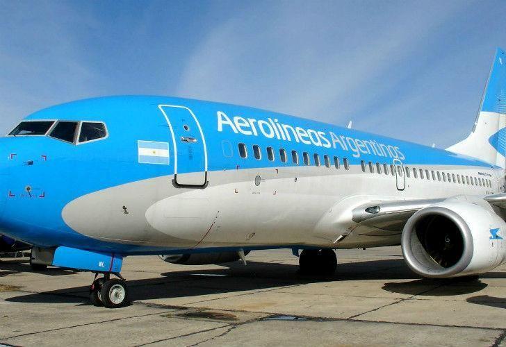 An Aerolineas Argentinas jet.