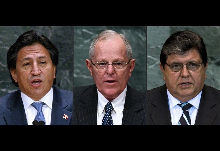 Peruvian then-presidents Alejandro Toledo, Pedro Pablo Kuczynski and Alan García delivering their speech at the United Nations General Assembly in 2003, 2016 2010 respectively.