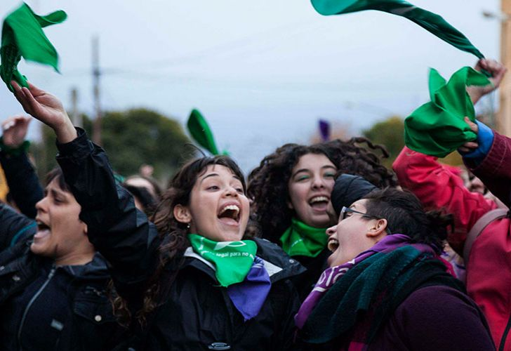 Supporters of the abortion bill filled the streets of Argentina on Wednesday June 13, 2018.