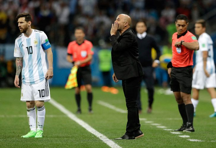 Argentina coach Jorge Sampaoli admitted his side were