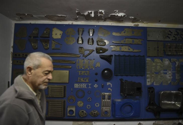 Gerardo Labozzetta, the owner of a small metallurgical factory, is pictured at his business in Buenos Aires.
