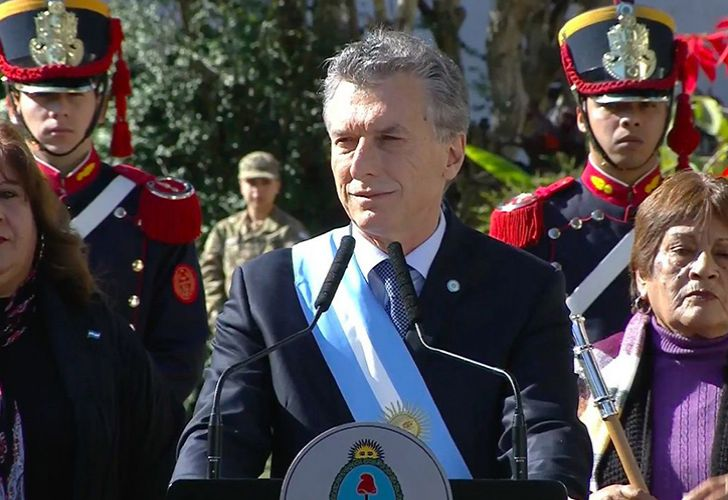President Mauricio Macri speaking in Tucumán during July 9 Independence Day celebrations.