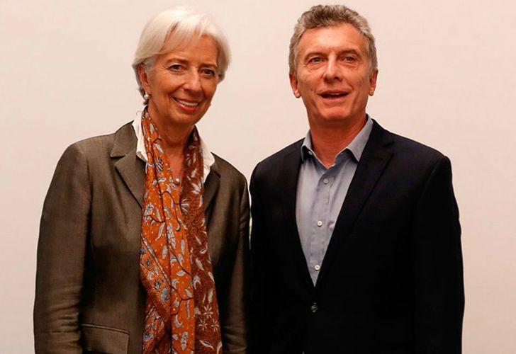 IMF Managing Director Christine Lagarde and President Mauricio Macri.