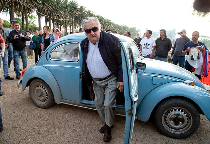 Uruguay's former President José Mujica arrives to cast his vote in the 2014 elections in Montevideo, Uruguay.