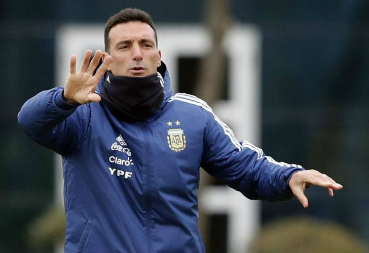 National squad interim coach Lionel Scaloni.
