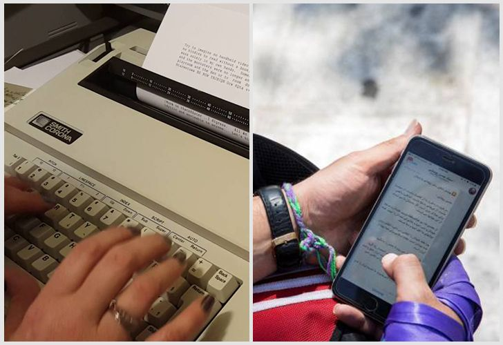 Who could have imagined back then, that in 2018 we would be typing not just on keyboards but mainly on the touchscreens of devices that are the size of our hands?