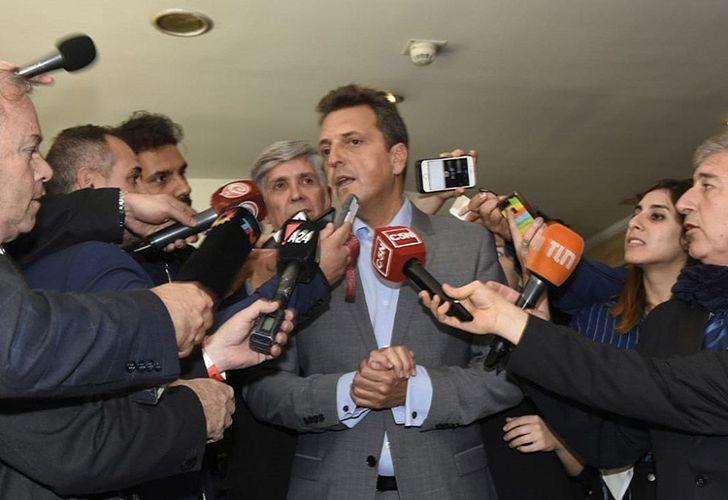 Dissident Peronist leader Sergio Massa.