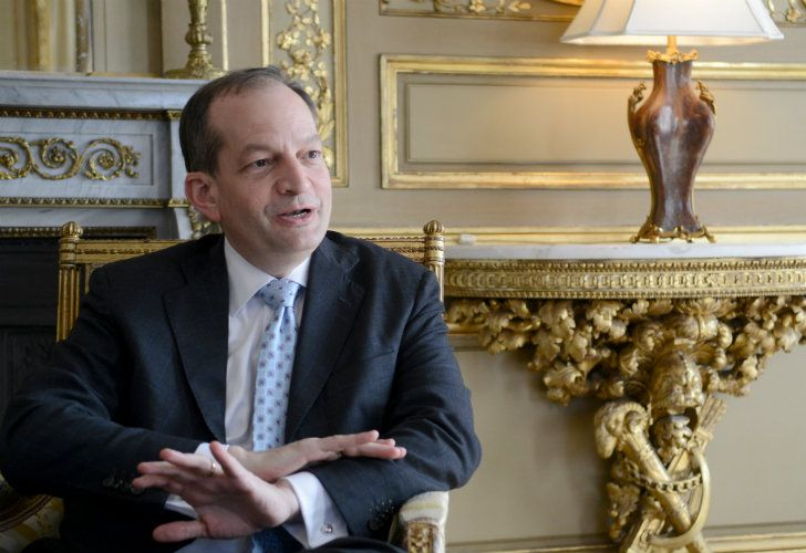 US Secretary of Labor, Alexander Acosta, pictured during an interview with Perfil.