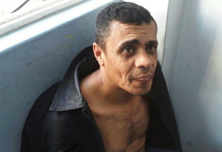 Adélio Bispo de Oliveira, the man suspected of stabbing Jair Bolsonaro, pictured after he was detained in Juiz de Fora after the attack.