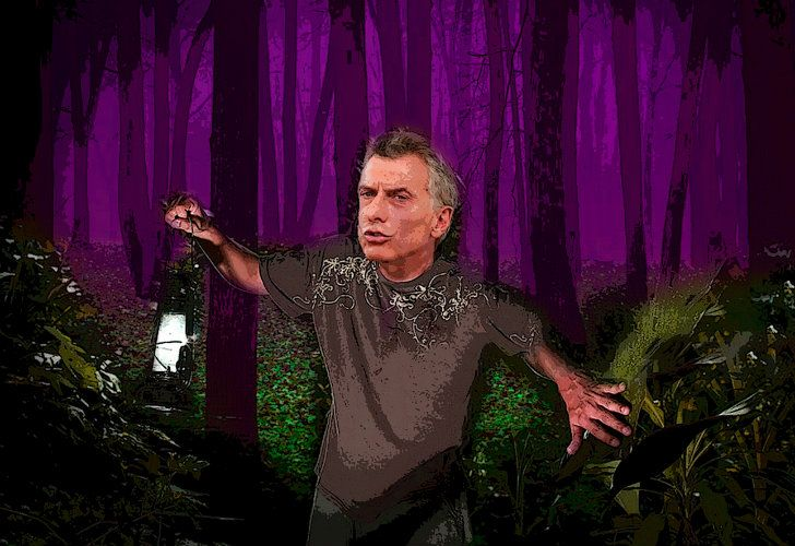 Macri, alone in the woods and in an uncertain economic stage.