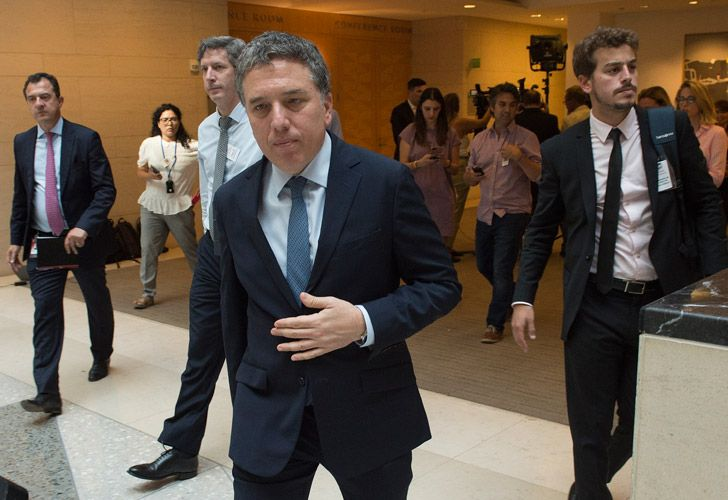 Economy Minister Nicolás Dujovne, pictured after talks with the IMF in Washington last week.
