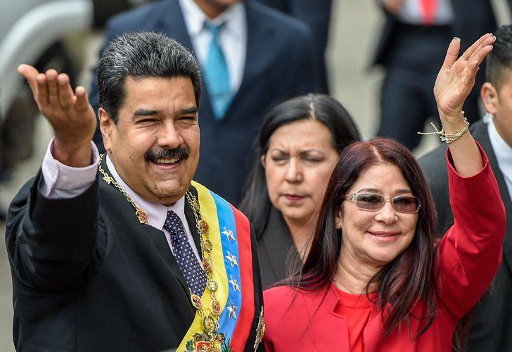 Venezuelan President Nicolás Maduro and his wife, Cilia Adela Flores de Maduro.