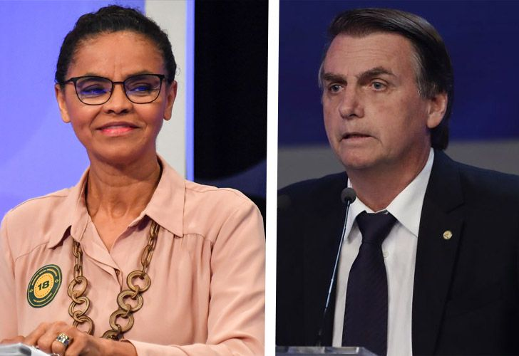 Marina Silva (left) and Jair Bolsonaro – two very contrasting candidates in Brazil's upcoming presidential race.