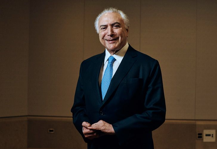 Brazil's President Michel Temer poses for a portrait at Four Seasons Hotel during the 73rd session of the United Nations General Assembly in New York.