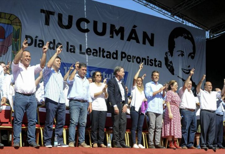 Peronist leaders gathered in Tucumán for October 17