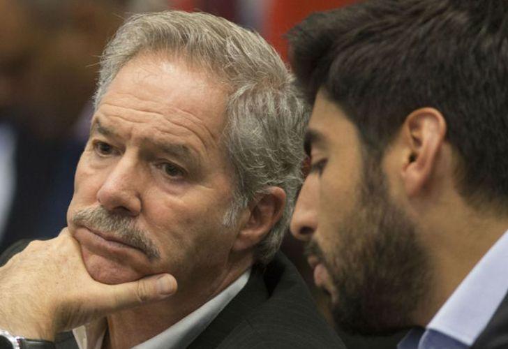 Lawmakers Felipe Solá and Facundo Moyano.