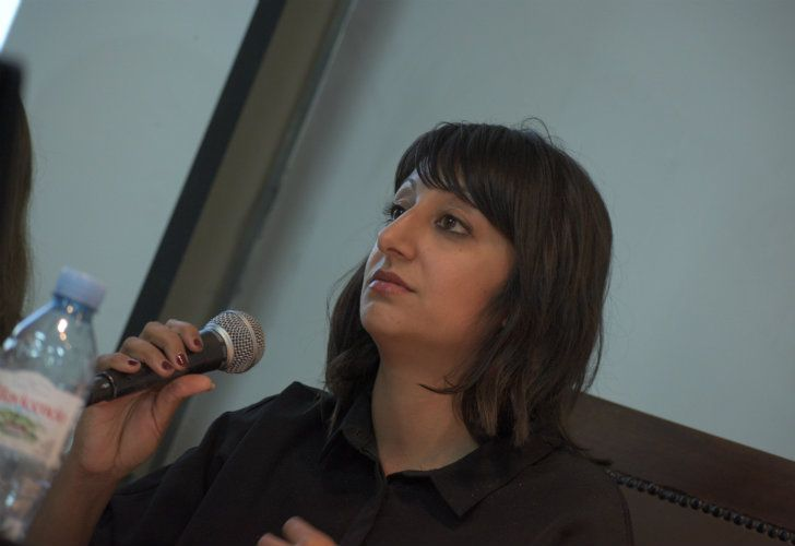 Amnesty International's Researcher on Technology and Human Rights Azmina Dhrodia, pictured during a debate at the University of Buenos Aires on Wednesday.