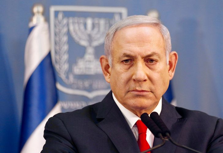 Israeli Prime Minister Benjamin Netanyahu delivers a statement Sunday in Tel Aviv, Israel.