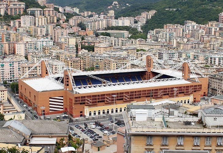 The Stadio Comunale Luigi Ferraris, also known as the Marassi.
