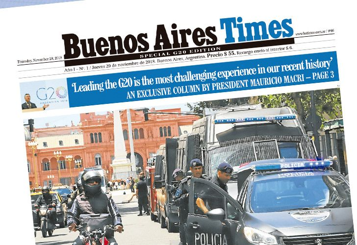 You can find your edition of our G20 special edition at kioscos in and around Buenos Aires today!