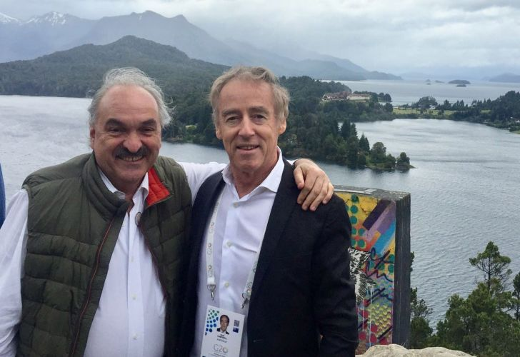 Noel Campbell, pictured with Argentina's G20 Sherpa Pedro Villagra Delgado.