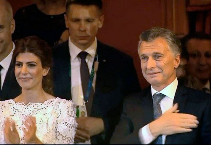 President Mauricio Macri was brought to tears by performers at the Teatro Colón last night.