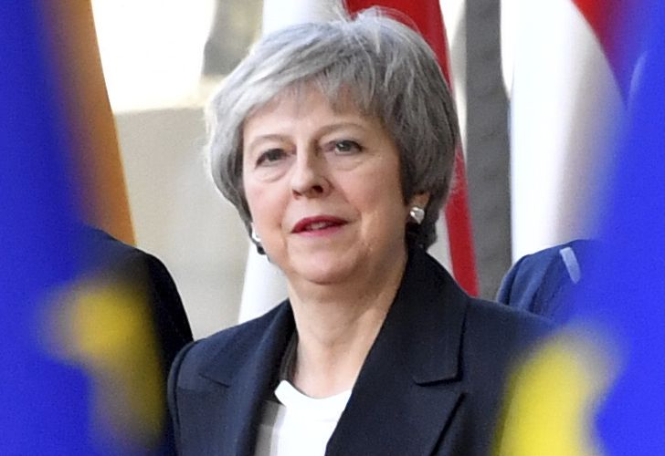 British Prime Minister Theresa May arrives for an EU summit in Brussels on Thursday.