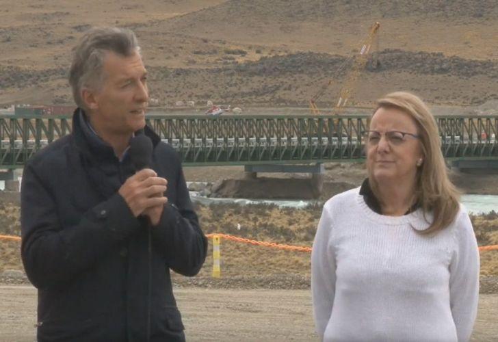 President Mauricio Macri and Santa Cruz Governor Alicia Kirchner.