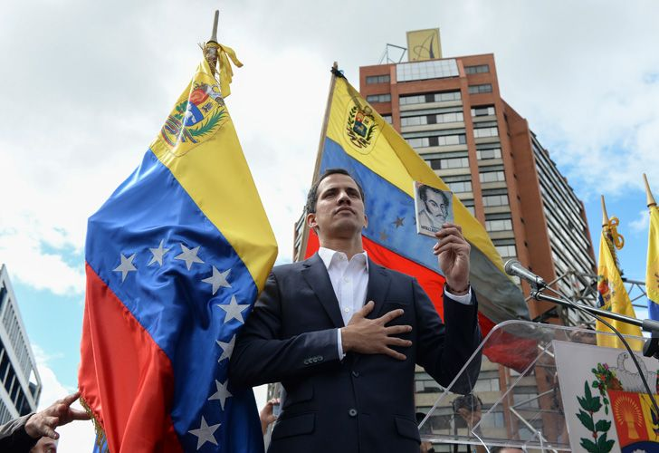 Venezuela's National Assembly head Juan Guaidó declares himself the country's