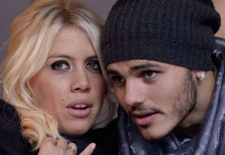 Inter Milan footballer Mauro Icardi and his agent-wife Wanda Nara.
