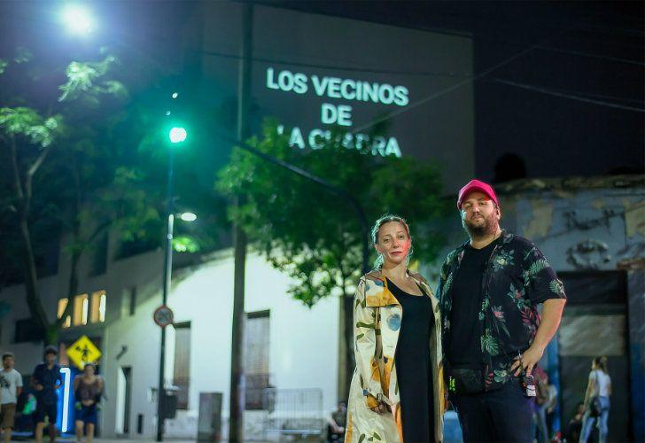 Bombón vecinal's curators Monina Bonelli and Cristian Scotton.