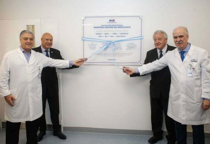 The grand opening of the British Hospital's new Oncology Centre back in July. Dr. Carlos Silva is on the far right.