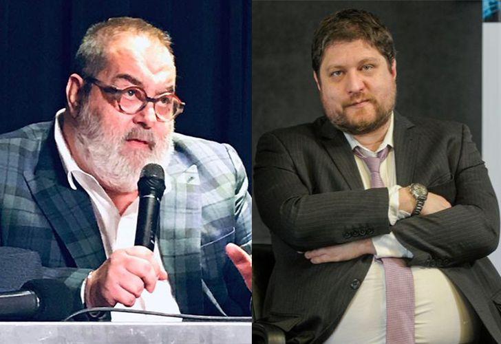 High-profile broadcast journalists Jorge Lanata (left) and Nicolás Wiñazki.
