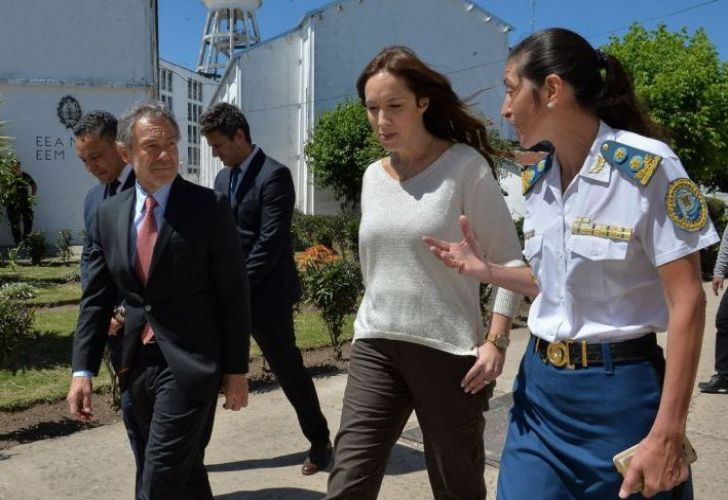 Governor María Eugenia Vidal and provincial Justice Minister Gustavo Ferrari.