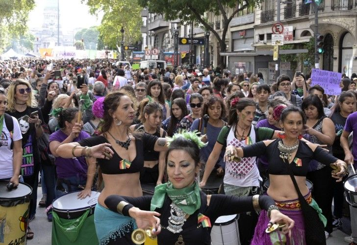 International Women's Day in Buenos Aires, Argentina.