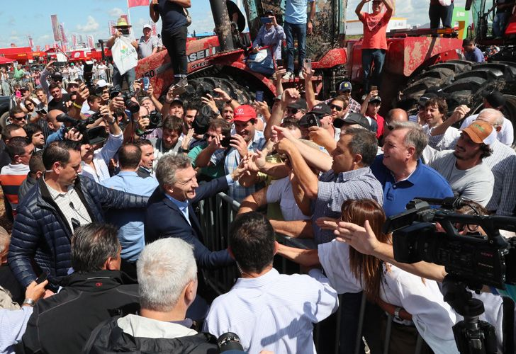 President Mauricio Macri, pictured during a walk-around at the Expoagro 2019 exhibition, in San Nicolás de los Arroyos, Buenos Aires province.