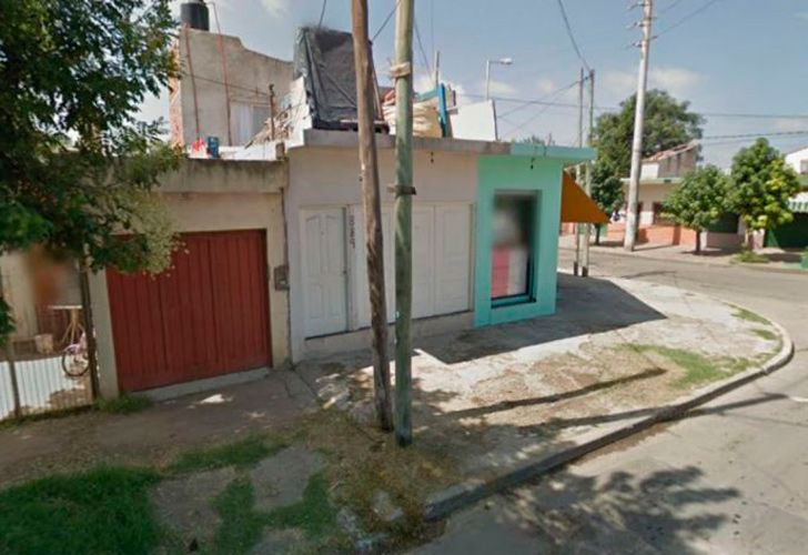 The house where the murder took place, on 18 de Octubre street in José C. Paz, Greater Buenos Aires.